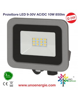 PROIETTORE LED 9 - 30V AC/DC 10W 850LM 4000K