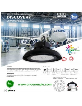 PROIETTORE INDUSTRIALE LED  LED UFO 150W 19800LM 200W 26400LM 4000K 110° DIMMERABILI