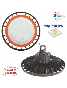 PROIETTORE INDUSTRIALE LED  LED UFO 150W 19500lm 4000K CHIP PHILIPS