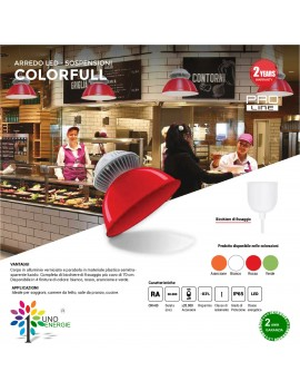 PROIETTORE LED  LED SOSPENSIONE IP65 COLORFULL 10W 850LM 20W 1600LM 30W 2500LM 3000K