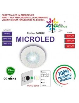 FARETTO MICROLED IN EMERGENZA 150LUMEN S.E. IP65