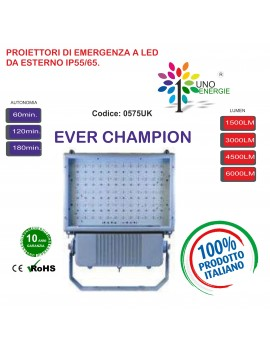 PROIETTORI A LED EVER CHAMPION DA 1500LUMEN A 6000LUMEN